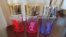 H1378 100ml empty perfume glass bottle with plastic cap