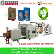 Roll Feeding Square Bottom Paper Bag Making Machine for sale