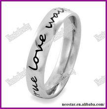 Wholesale Elya Designs Stainless Steel True Love Waits Script Ring