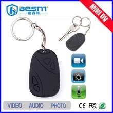besnt USB car key mini hidden camera 8gb tf memory card mini dv camera car key 808 mini cctv camera BS-736