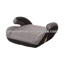 grey car booster seat