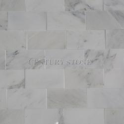 3''*6'' Common quality china venato white bardiglio gray marble tiles honed