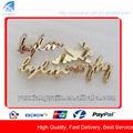 ذهبية لامعة cd8813 الملابس المعدنية شعار العلامة التجارية