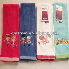 cotton velour embroidery design fancy hand towel/towel kitchen