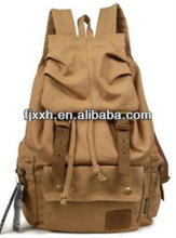 2013 branded brown canvas backpack for college students,fashion triangle canvas bag