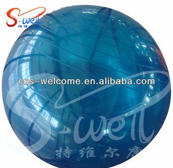 eco friendly transparent yoga ball with logo printing