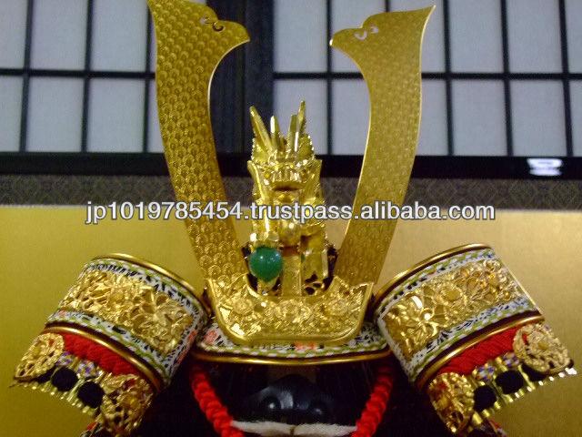 Japanese Samurai Armor Doll and helmet for doll for kids festival decoration
