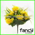 24หัวสีเหลืองเทียมเพิ่มขึ้นช่อดอกไม้งานแต่งงานตกแต่งและลิลลี่
