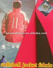Fleece bonded TPU skiing jacket fabric