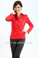 fashionable design long sleeve blank women polo tshirts