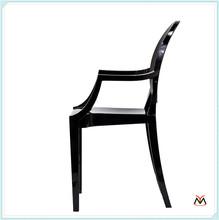 black new style hotsale plastic acrylic chair