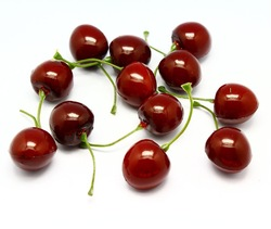 Plastic fruits cherry for decoration