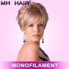 female synthetic wig monofilament wigs fashion design wigs for women