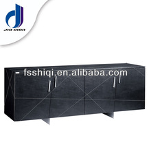Modern wooden office cabinet TV cabinet made by PU leather and stainless steel for home furniture