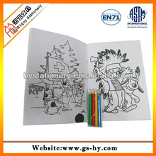 Drawing set for kids with coloring book, color stationery set