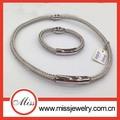 316l magnética de acero inoxidable joyería, cable de collar y pulsera conjunto