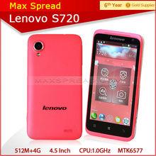 1.0GHz mtk6577 Dual core lenovo S720 4.5''IPS 1.3mp/8mp dual camera dual sim GPS 3G Smart phone