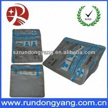 Clear standing laminated silver aluminium foil bag ziplock