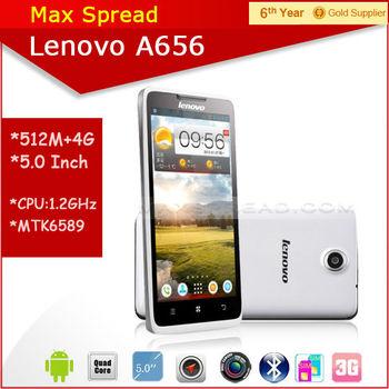 5.0 inch touch screen Lenovo A656 1.2GHz MTK6589 quad core dual sim MTK smart phone