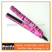 rotating hair styler, titanium tourmaline hair straightener