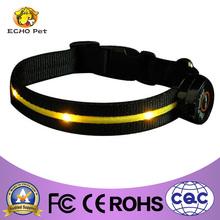 Orange led flash light dog/cat collar
