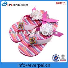 Fancy shoe style interchangeable velcro strap flip flops
