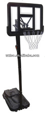Basketball stand with break away ring,gymnasium basketball stand