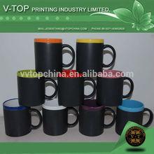 11oz standard mug stoneware chalk mug with matt black coated