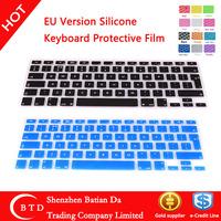 fashion Eropean EU Version Silicone keyboard cover for macbook pro 13 15
