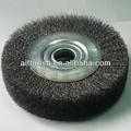 150mm diâmetro fiodeaçoinoxidável escova para máquina de polimento