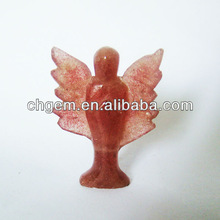 Fashion pink crystal angle for christmas