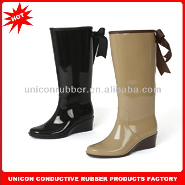 2014 nuevo diseño de goma botas para mujer las señoras de goma ...