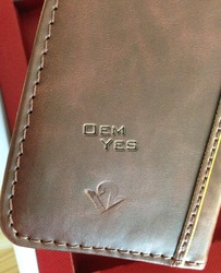 New Genuine Leather Book Cover with Cards Wallet Case for iphone 4 4S