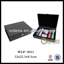 Luxury Carbon Fiber 200 Chips Wooden Poker Set