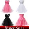 Girls Strapless Off Shoulder Voile Short Cocktail Dresses 2014 Grace Karin Cocktail Dress CL4503