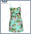 Custom havaiano vestidos atacado/havaiano imprimir vestido