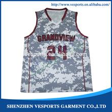 Camo Basketabll Jerseys Custom Basketball Uniforms