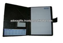 ADACF - 0102 genuine leather modeling portfolios case / leather folder portfolios / black business folders with snap closure