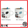 Hot Selling Fashionable Magic changing ceramic mug funny bird