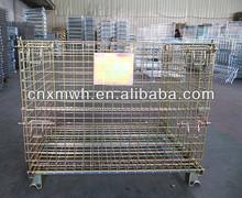 Foldable collapsible metal bin