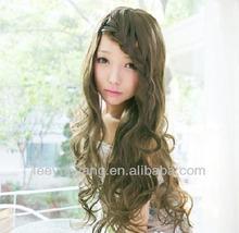 North Korea Fashionable long big wavy hair wig
