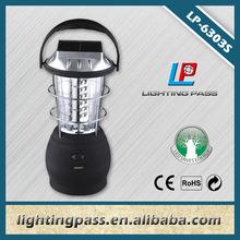 Crank handle LED dynamo camping flashlight solar lantern