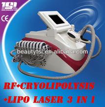 ارتفاع فعالة فراغ cryolipolysis 3 in1 diodo الليزر يبو ضئيلة