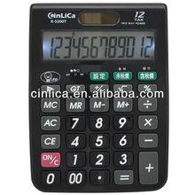 led backlight calculator solar cell desktop calculator R-5200T
