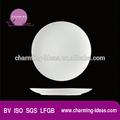 liso branco porcelana prato redondo