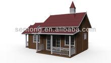 European Style Single Floor Wooden House