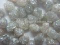branco industrial de diamantes em bruto