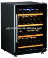 Étagères en bois ventilateur de refroidissement compresseur refroidisseur de vin USF-54D ( 150 litres 54 bouteilles ) avec dual zone