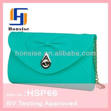Eco-freindly silicon new model brand name ladies purse