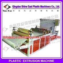Multi layer plastic film perforation machine